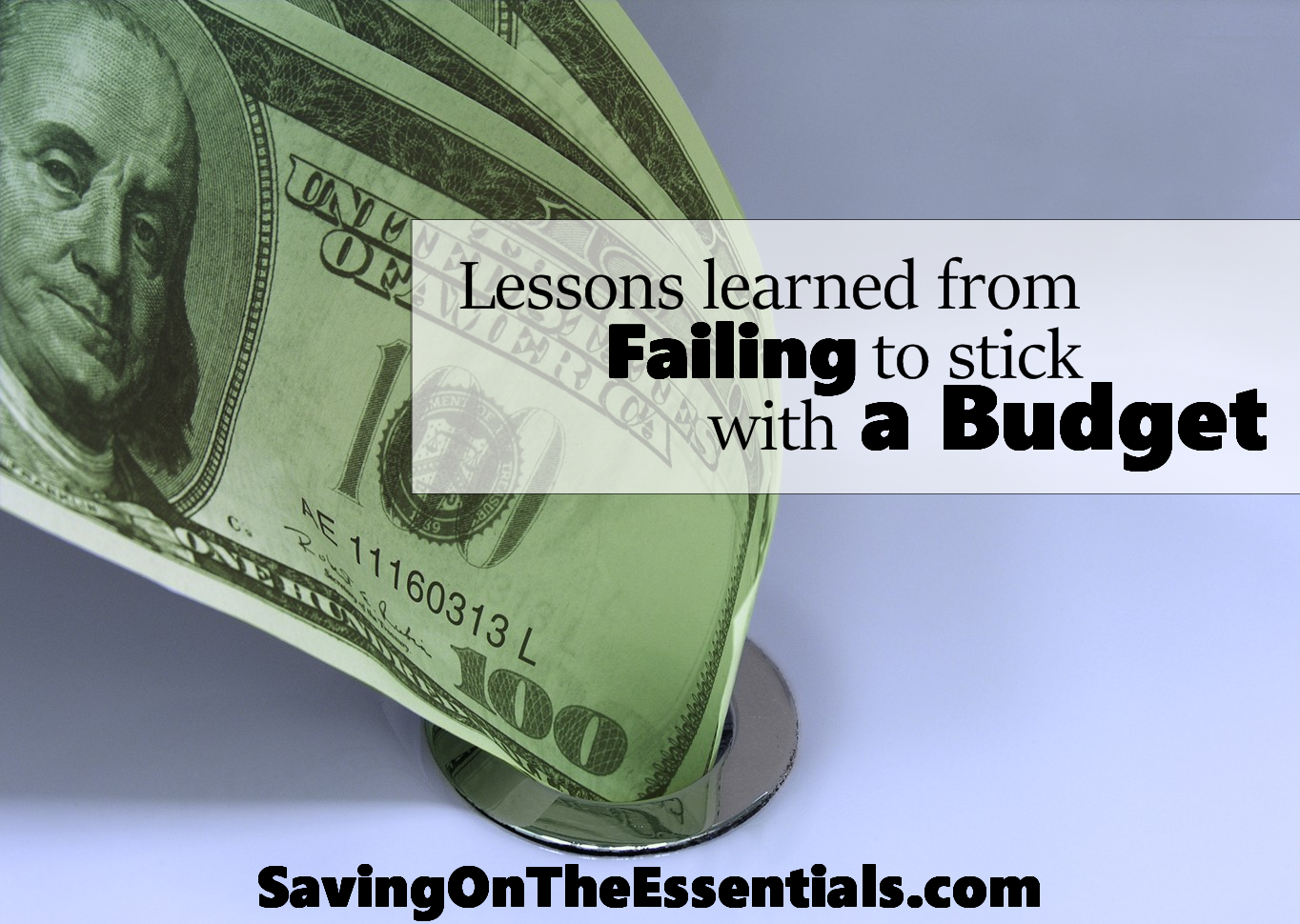 Lessons learned from Failing to stick with a Budget